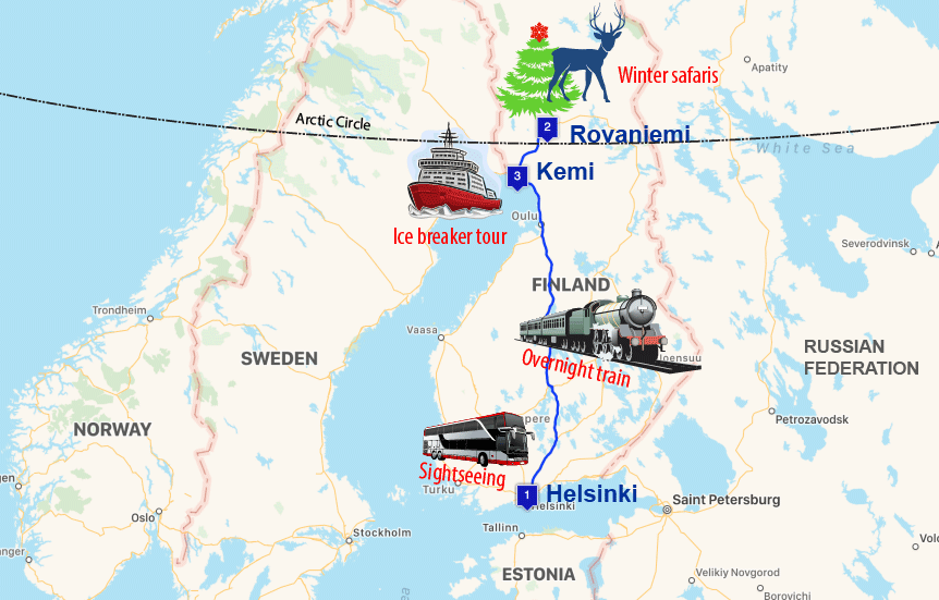 northern lights tours to the Finnish Lapland