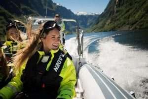 Rib boat in Norway